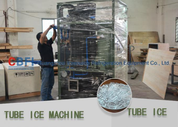 Capacity 10,000kg/24h Ice Tube Machine Germany Bitzer / Taiwan Hanbell Compressor