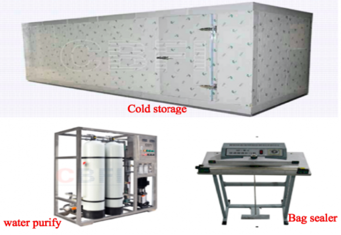 R404a Refrigerant 10 Ton Ice Cube Machine For Restaurant , Supermarket