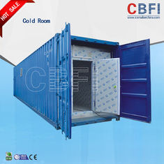 चीन Color Steel Panels Sliding Door Container Cold Room -18 - -25 For Fish And Meat फैक्टरी