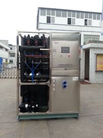 चीन R22 / R404a Refrigerant Industrial Ice Maker Machine , Air Cooled Ice Maker फैक्टरी