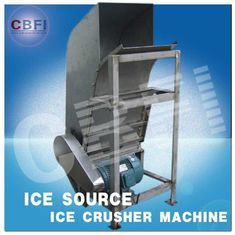 चीन Water Proof Crushed Ice Maker Machine / Industrial Ice Crusher Machine Energy Saving  फैक्टरी