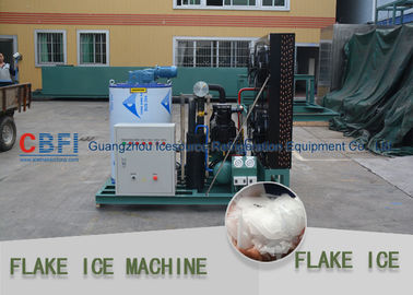 चीन Different Capacity 500kg - 30000kg Flake Ice Maker Air Cooled / Water Cooled फैक्टरी