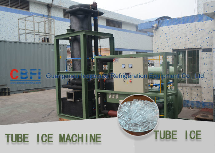 Stainless Steel 304 Evaporator Ice Tube Making Machine Germany Bitzer Compressor आपूर्तिकर्ता