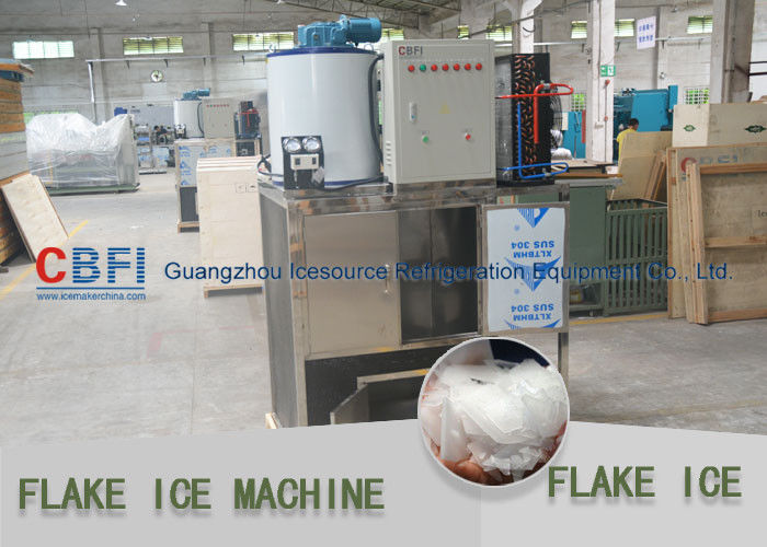 Fish / Keep Fresh Cooling Flake Ice Machine Work With Cold Room 1 Phase -  3 Phase आपूर्तिकर्ता