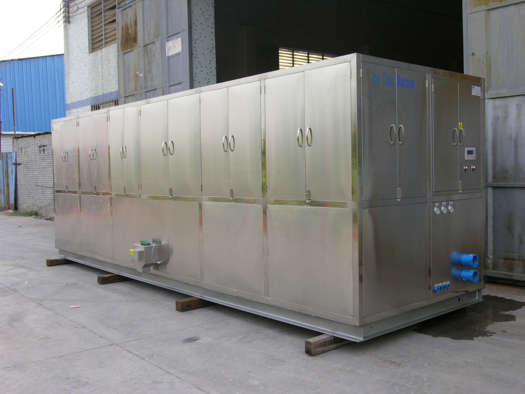 R404a Refrigerant 10 Ton Ice Cube Machine For Restaurant , Supermarket आपूर्तिकर्ता