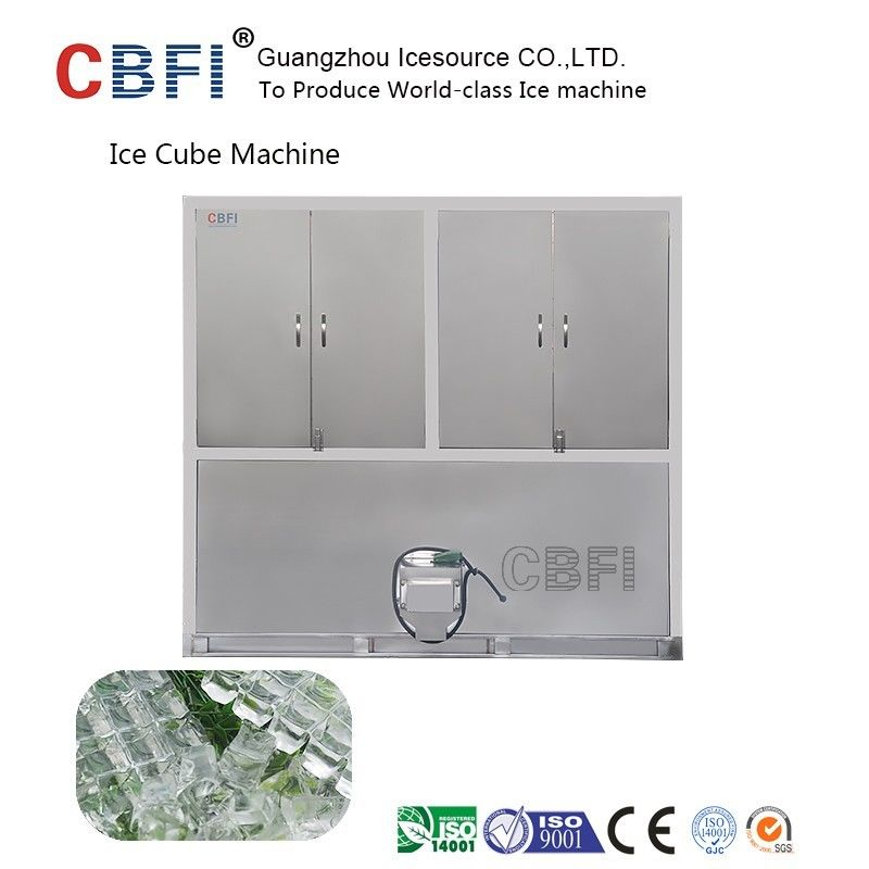 304 Stainless Steel Industrial Ice Cube Making Machine R22 Refrigerant आपूर्तिकर्ता