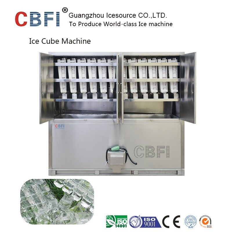 Large 20 Tons Edible Ice Cube Machine With r22 Gas For Beverage Shop आपूर्तिकर्ता
