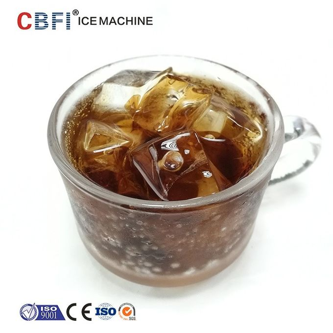 R404a Refrigerant Ice Cube Maker Machine With 1 Year Warranty